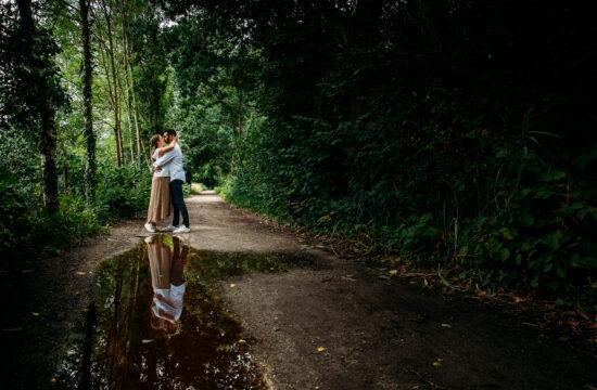 Fotograaf Nico Van Moorhem koppel verloving kus